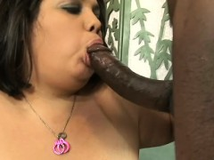 Lorelai Works Her Mouth On A Black Stick Before It Invades Her Snatch