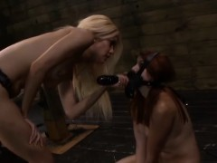mistress-uses-her-redhead-slave-rose-red-as-a-human-dildo