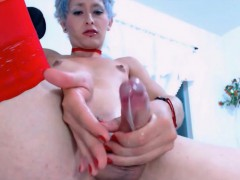 mature-tranny-tastes-her-own-cock-juices