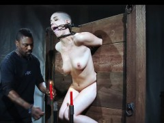 Gagged Bound Slut Gets Intense Punishment