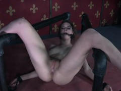 Restrained Bdsm Submissive Asshole Toyed