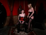 Slave is tied up so she can submit to her master's punishment