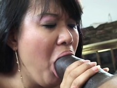 black guy has a sexy asian chick to ravage