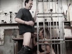 cock-whore-lana-violet-caged-and-throated