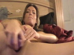 Nadia from 1fuckdatecom - Milf masturbation plays with purpl