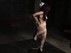 roped-redhead-slave-nipple-and-pussy-punished