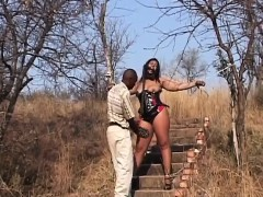 big-ass-african-bitch-gets-whipped-outside-the-house