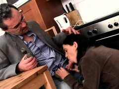 Hottie Is Getting Her Cunt Ravished By Teacher On The Couch
