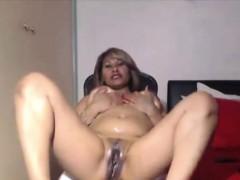 Exotic Mature Ebony Portia Fingering Oiled Black Vagina