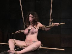 tiedup-bigtitted-sub-punished-with-dildo
