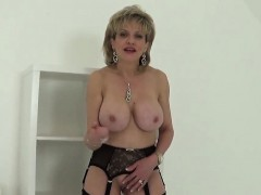 unfaithful british milf lady sonia displays her huge knocker