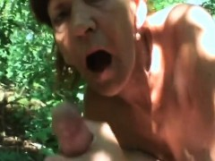 Hot mature devours heavy dick in sexy outdoor porn scenes