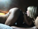Cock-Hungry White Lady Fuck and Pull with Dark Companion