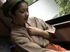 enticing japanese housewife works her lips and hands on a t