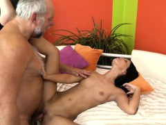 babe slut banged in missionary by grandpa