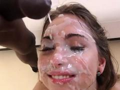 gangbang slut sexy jizz face