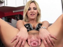 sweet czech girl stretches her juicy pussy to the peculiar