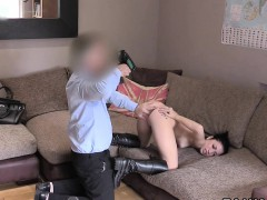 Fake Agent Uk Fingers Ass And Cunt To Brunette