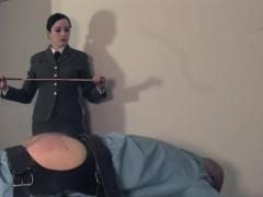 uniform-mistress-canes-jailed-scum-sub-ass
