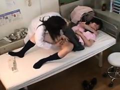 Horny Asian Nurse Loves It When She Gets Schoolgirls To Exa