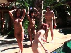 Pool Sex Party With Hardcore Fucking In Group