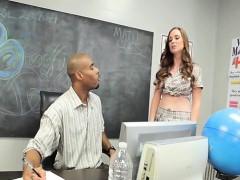 Big Tits Pornstar Interracial With Cum In Mouth