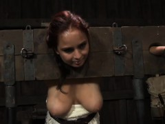 hottie is tying up lovely hottie for punishment session
