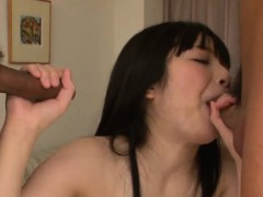 hina maeda deals two dicks in a flaming asian threesome