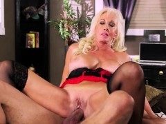 big titted mature blonde in lingerie