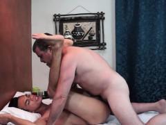 Massaged Daddy Pounding Asian Twinks Ass