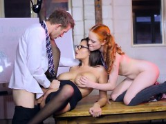 busty-pornstar-and-redhead-cutie-3some-action-on-a-desk