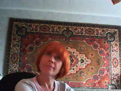 redhead-mother-is-reveling-her-normal-breasts-that-are-humu