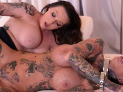 brunette-submissive-fetish-with-cumshot