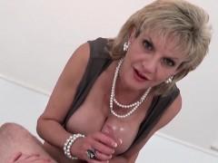 Unfaithful British Mature Lady Sonia Flashes Her Huge Balloo