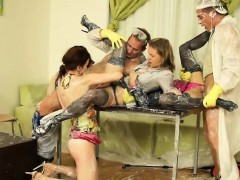 Kinky orgy session with ravishing starlets
