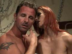 redhead sub babe banged roughly by maledom WWW.ONSEXO.COM
