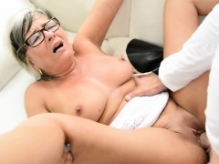 spex granny nailed and jizzed on tits