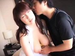 seductive japanese beauty with marvelous huge boobs kisses a