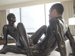 sexy pornstar latex and cumshot