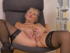 European Granny Pleasuring Herself
