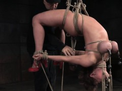 Busty Milf Tormented With A Suspended Hogtie