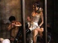 Sex Slaves In A Cage Are Taken Out And Tortured By A Domina