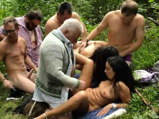German outdoor fuck party orgy Mamie from dates25com