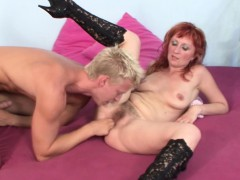 Scout69 – Stepmom with hairy pussy seduce young boy