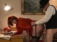 sexy-german-redhead-with-a-great-booty-fucks-an-old-guy-for