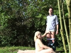 Busty mother-in-law taboo sex outside