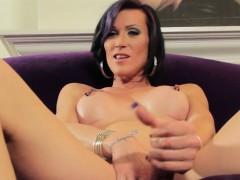 Tattooed Trans Goddess Pulling Cock Solo