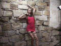 skinny blonde wears just stockings WWW.ONSEXO.COM