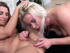 blonde-lesbians-licking-shaved-pussies-in-bedroom