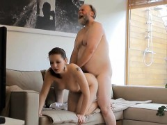 Old Fucker Is Intend To Have Sex With Teen Beauty